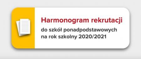 Harmonogram rekrutacji dla ósmoklasistów