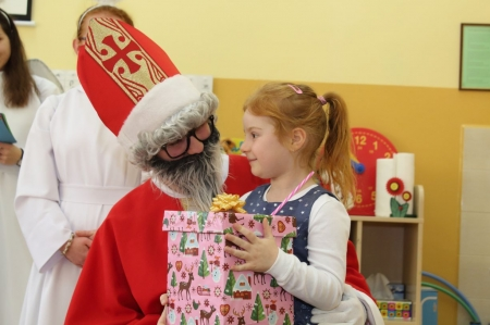 Wizyta św. Mikołaja w Zerówce